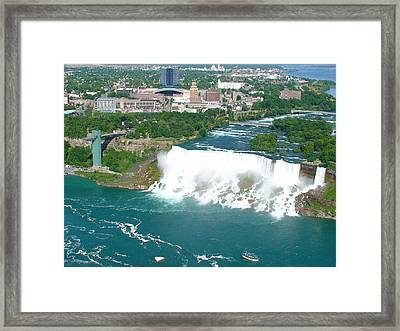 Niagara American And Bridal Veil Falls  Framed Print by Charles Kraus