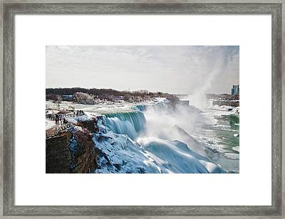Framed Print featuring the photograph Niagara Falls 4589 by Guy Whiteley