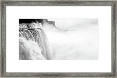 Niagara Falls Art - Black And White Landscape Photography Framed Print by Wall Art Prints