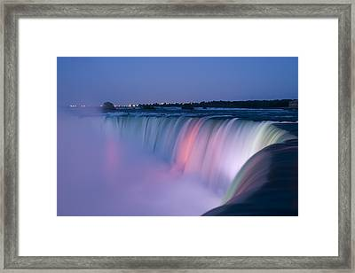 Niagara Falls At Dusk Framed Print by Adam Romanowicz