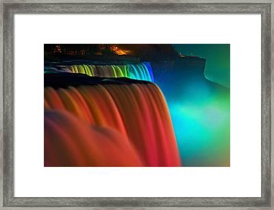 Niagara Falls At Night Framed Print