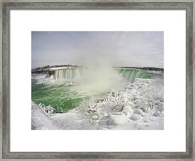 Niagara Falls Beautiful Winter Scene Framed Print by Charline Xia