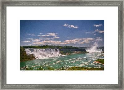 Fall In Niagara Falls Framed Print