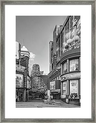 Niagara Falls - Clifton Street 3 Bw Framed Print