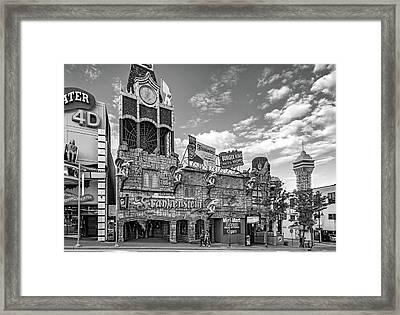 Niagara Falls - Clifton Street Horror Bw Framed Print