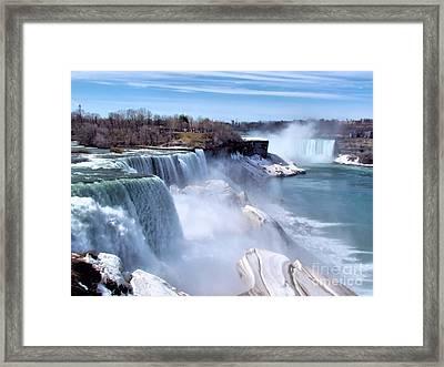 Niagara Falls Framed Print by Elizabeth Dow