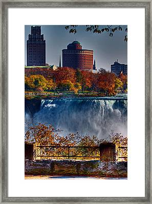 Framed Print featuring the photograph Niagara Falls From Ontario by Don Nieman
