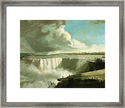 Niagara Falls From Table Rock Framed Print by John Vanderlyn
