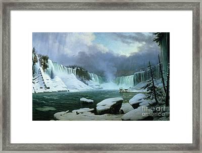 Niagara Falls Framed Print by Hippolyte Victor Valentin Sebron