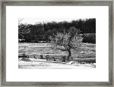 Framed Print featuring the photograph Niagara Falls Ice 4514 by Guy Whiteley