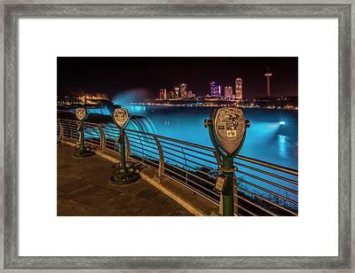 Niagara Falls Idyllic Nightscape Framed Print