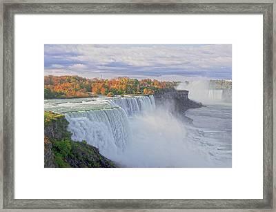 Niagara Falls In Autumn Framed Print