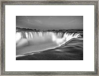 Niagara Falls In Black And White  Framed Print
