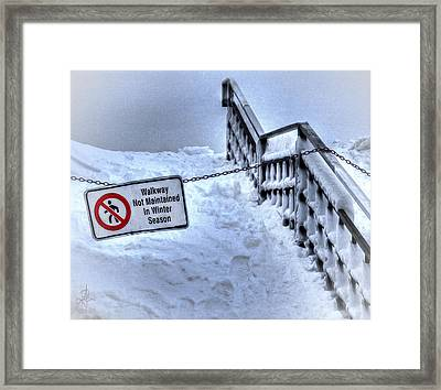 Niagara Falls In Winter Framed Print by Pennie  McCracken
