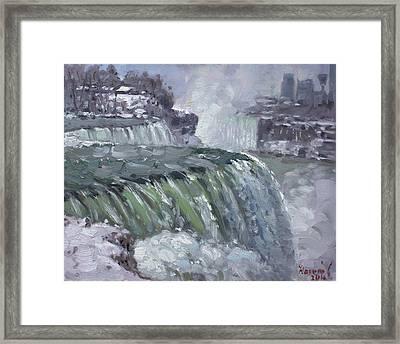 Niagara Falls In Winter  Framed Print