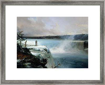 Niagara Falls Framed Print by Jean Charles Joseph Remond