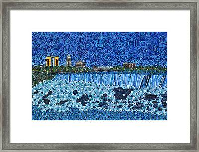 Niagara Falls - Night Framed Print by Micah Mullen
