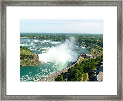Framed Print featuring the photograph Niagara Falls Ontario by Charles Kraus