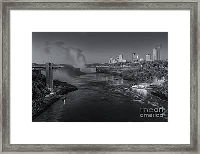 Niagara Falls Pre-sunrise II Framed Print by Clarence Holmes