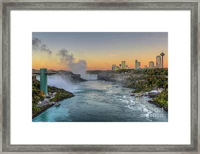 Niagara Falls Pre-sunrise IIi Framed Print by Clarence Holmes