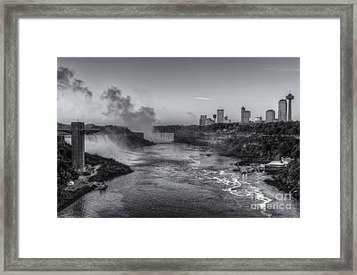 Niagara Falls Pre-sunrise Iv Framed Print by Clarence Holmes