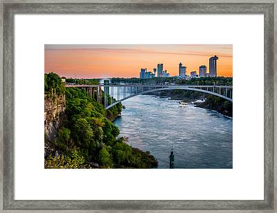 Niagara Falls Skyline And Gorge Framed Print