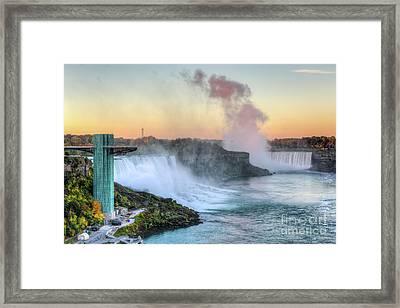 Niagara Falls Sunrise Light I Framed Print by Clarence Holmes