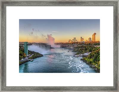 Niagara Falls Sunrise Light IIi Framed Print by Clarence Holmes