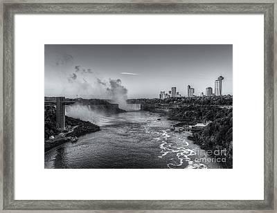 Niagara Falls Sunrise Light Iv Framed Print by Clarence Holmes