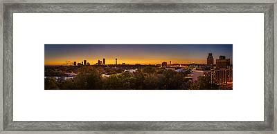 Framed Print featuring the photograph Niagara Falls Twilight From The 9th Floor by Chris Bordeleau