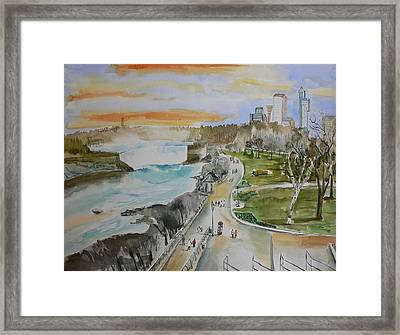 Framed Print featuring the painting Niagara In Spring by Geeta Biswas