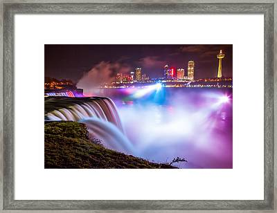 Niagara Night Framed Print