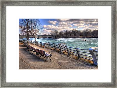 Niagara Rapids In Early Spring Framed Print