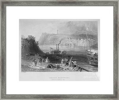 Niagara River, 1839 Framed Print by Granger