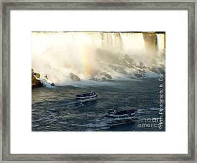 Niagra Falls Maid Of The Mist Boat Ride Framed Print