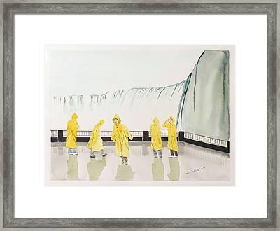 Niagra Framed Print by Melanie Williams