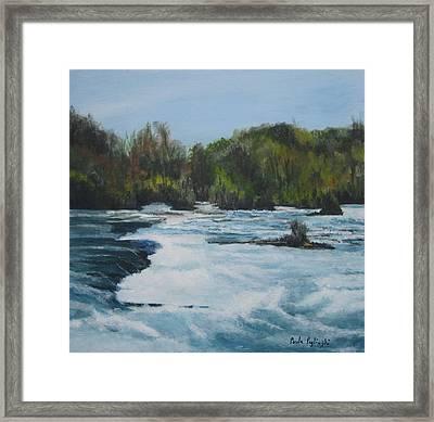 Niagra Rapids Framed Print