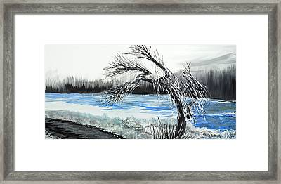 Niagra Winter Framed Print by David Junod