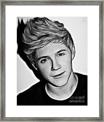 Niall Horan Framed Print by The DigArtisT