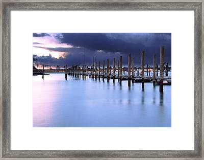 Niantic Docks Framed Print by Andrea Galiffi