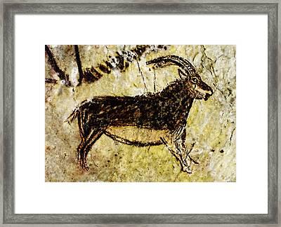 Niaux Goat Framed Print