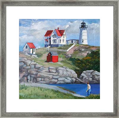 Nibble Light Framed Print by Michael McDougall