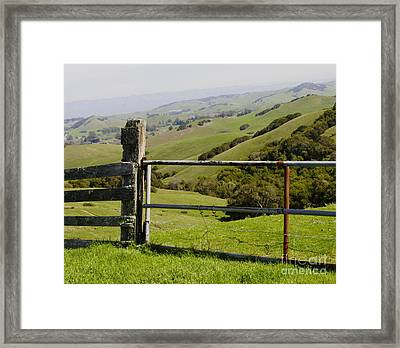 Nicasio Overlook Framed Print