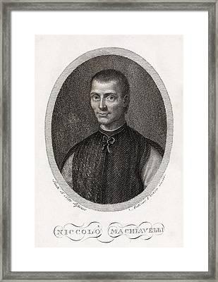 Niccolo Machiavelli, Italian Philosopher Framed Print