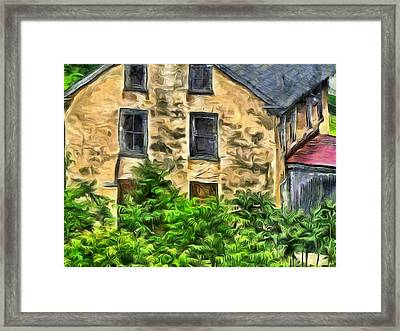 Framed Print featuring the mixed media Niccolo by Trish Tritz