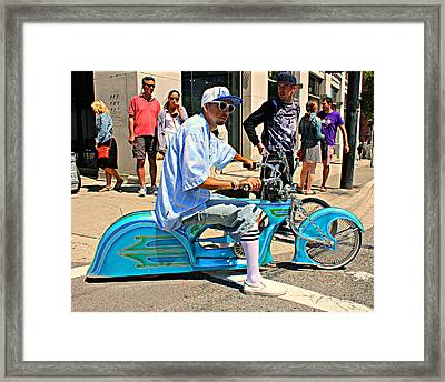 Nice Bike Framed Print