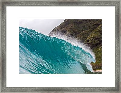 A Curling Wave  Framed Print by Chris and Wally Rivera