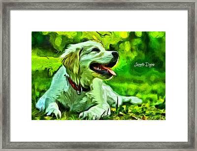 Nice Dog - Da Framed Print by Leonardo Digenio
