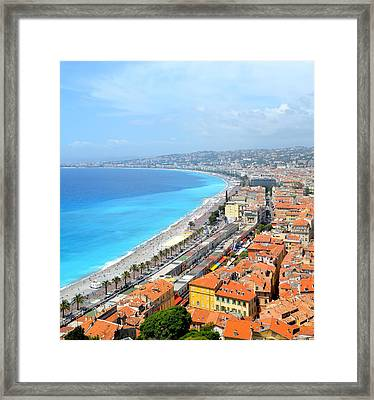 Nice France Coastline Framed Print