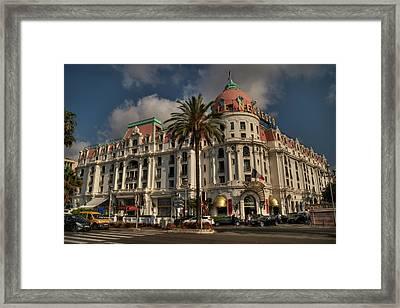 Nice - Hotel Negresco 001 Framed Print